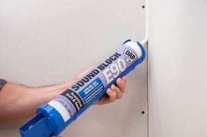 Block E90 acoustical sealant reduces sound transmission and improves STC ratings in sound-rated wall & floor systems.