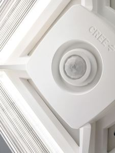 Cree Lighting indoor and outdoor fixtures feature Lutron wired and wireless digital fixture control technologies.