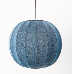 The Knit-Wit pendant collection distributes light through the knitted yarn pattern of each shade.