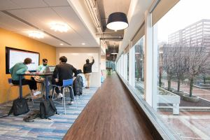Whether students want to collaborate or have individual time, they can freely circulate throughout the energized space.