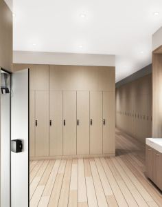 The CARVART glass and cHPL locker series embellish changing rooms by paying special attention to creating harmony.