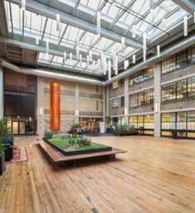 The mixed-use live/work/play development utilizes a VELUX Venting Modular Skylights (VMS) system for both natural light and passive ventilation.