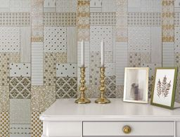 The Ege Seramik SALVADOR Collection offers large format wall tiles that replicate natural stone.