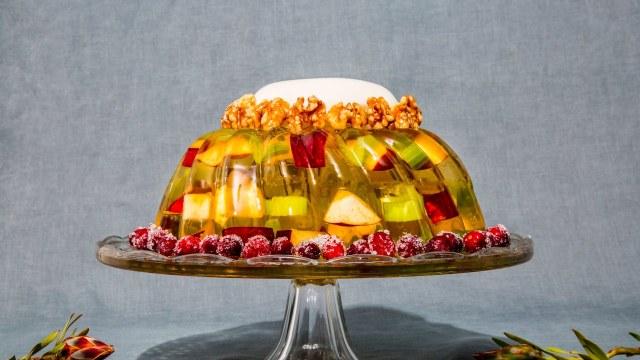 california-waldorf-salad-gelatin-mold via bon appetit