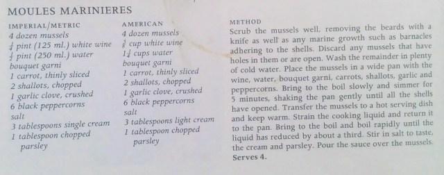Moules Recipe