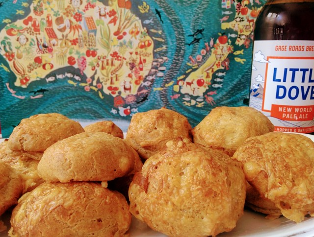 Vegemite and Pale Ale Gougeres