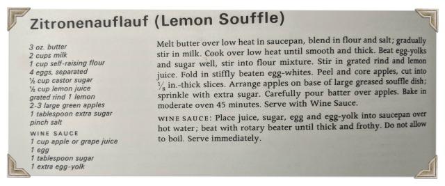 Zitronenauflauf Recipe