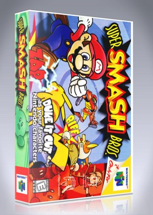 N64 Super Smash Bros Custom Game Case Retro Game Cases