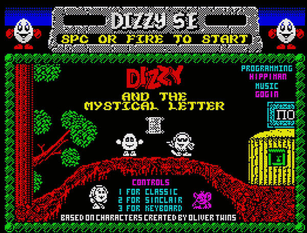 Dizzy and the Mystical letter