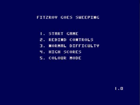 Fitzroy Goes Sweeping, menú