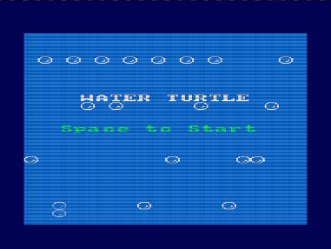 Water Turtle, pantalla de presentación