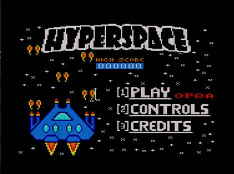 Hyperspace, menú