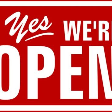 Yes we are open….