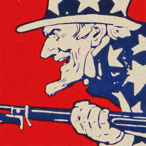 Wwi Poster Art Decor July 4th Uncle Sam S Birthday Steel Metal Vintage Image Wall