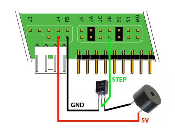 esquema-ligacao-buzz Mod para o Floppy Drive Gotek com Cortex