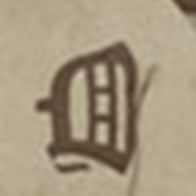 Detroit Tigers logo from 1894-1900