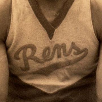Dayton Rens logo from 1923-1949