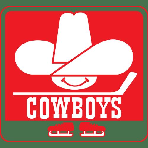 Calgary Cowboys logo from 1976-1977