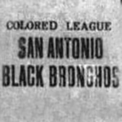 San Antonio Black Bronchos logo from 1907-1909