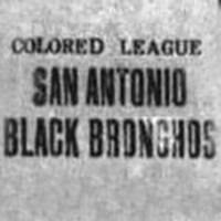 San Antonio Black Bronchos Logo