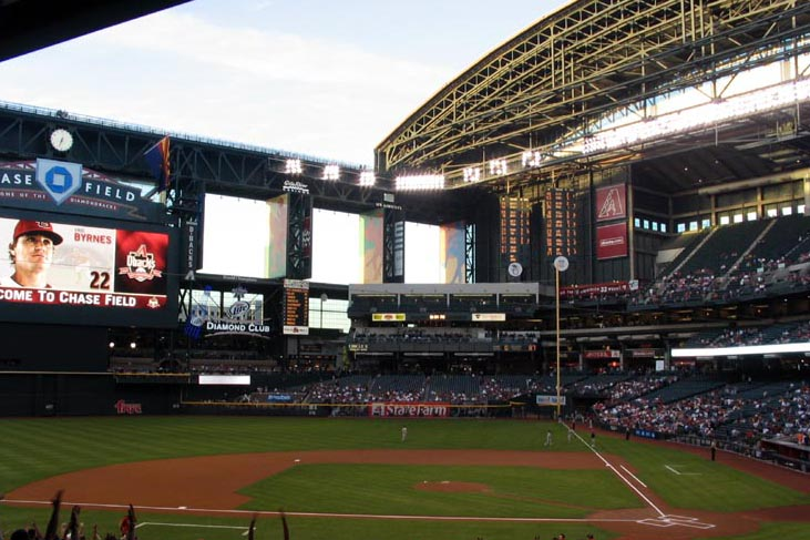 Chase Field in Phoenix, Arizona