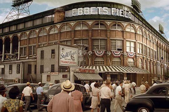 Ebbets Field in Brooklyn, NY