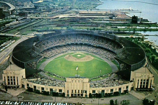 Cleveland Stadium in Cleveland, Ohio