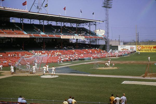 Crosley Field in Cincinnati, Ohio