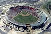 Arlington Stadium in Arlington, Texas