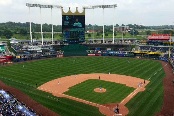 Kauffman Stadium in Kansas City, Missouri