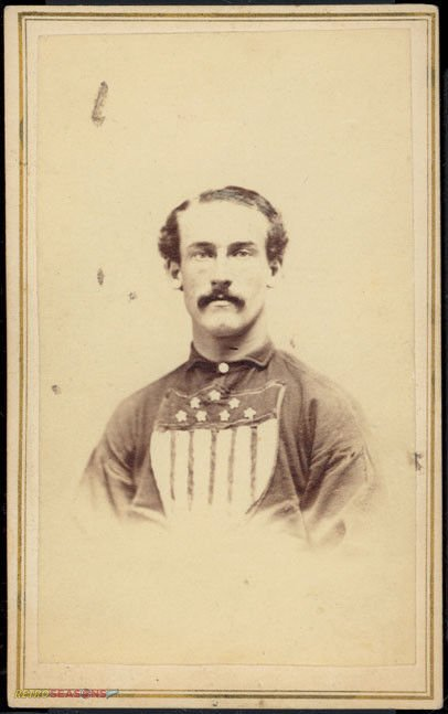 William Abrams from 1866 Troy Haymakers Lansingburgh Union Baseball Team Players