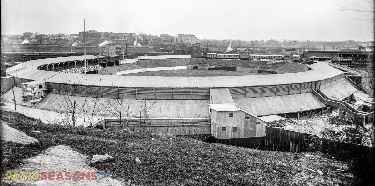 New York, 1909.Polo Grounds, view from Coogan's Bluff