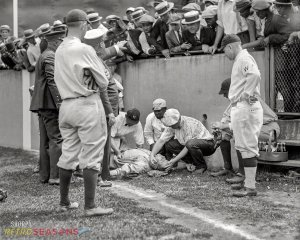 Babe Ruth knocked unconscious