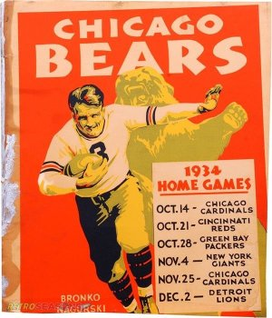 1934 Chicago Bears…almost perfect