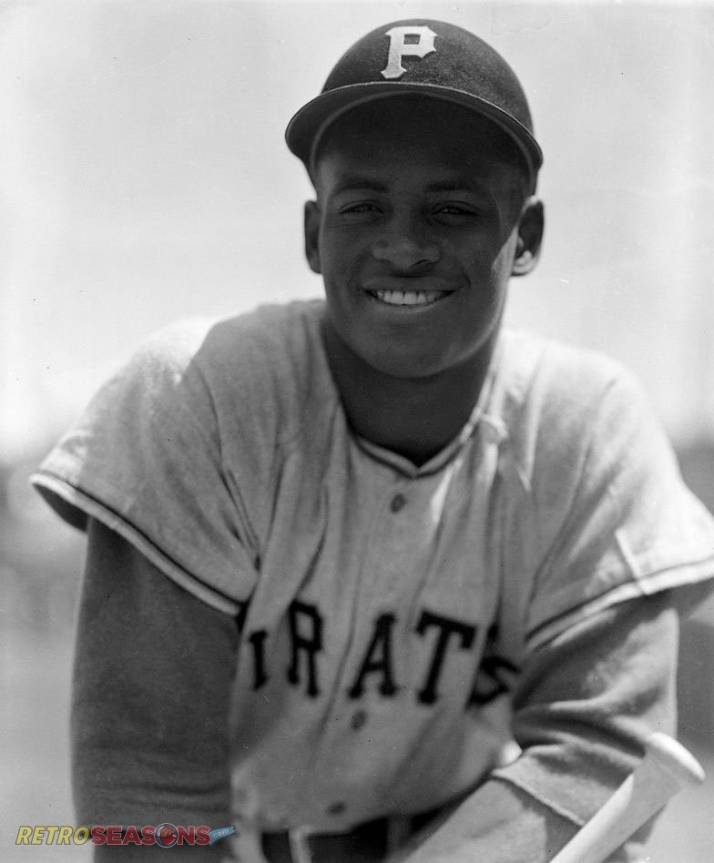 A young Roberto Clemente of the Pittsburgh Pirates in the 1960s