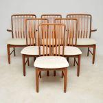 1960 S Vintage Set Of 6 Danish Teak Dining Chairs By Svend Aage Madsen Retrospective Interiors Retro Furniture Vintage Mid Century Furniture Vintage Danish Modern Furniture Antique Furniture London