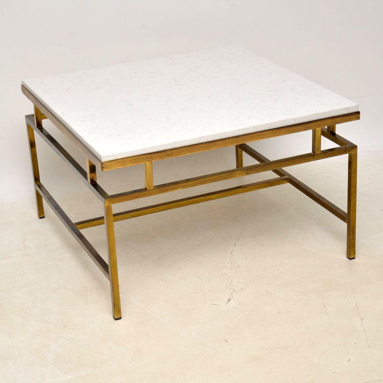 1960 S Vintage Brass Quartz Coffee Table Retrospective Interiors Retro Furniture Vintage Mid Century Furniture Vintage Danish Modern Furniture Antique Furniture London
