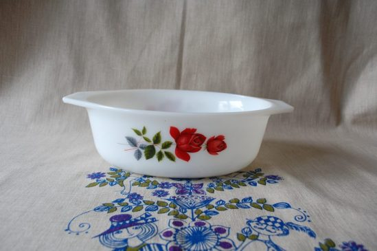 JAJ Pyrex June Rose pattern