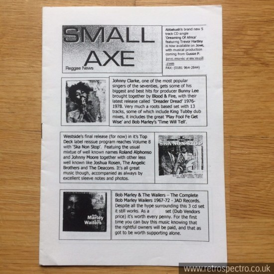 Small Axe Reggae News