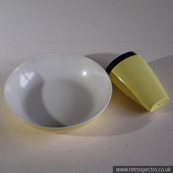 Melamine Salt Shaker & Bowl