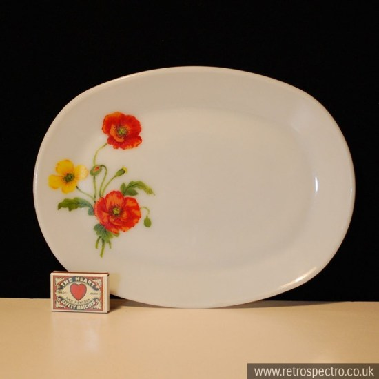 JAJ Pyrex Red Poppy