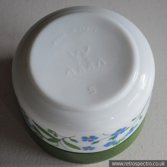 Italian Milk Glass Jar