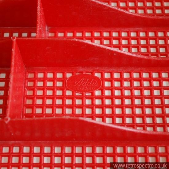 Red Vintage Utensil Tray