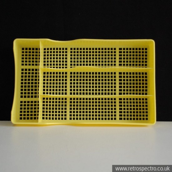 Yellow Vintage Utensil Tray