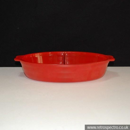 Phoenix Oven Proof Glass Split Oval Caserole