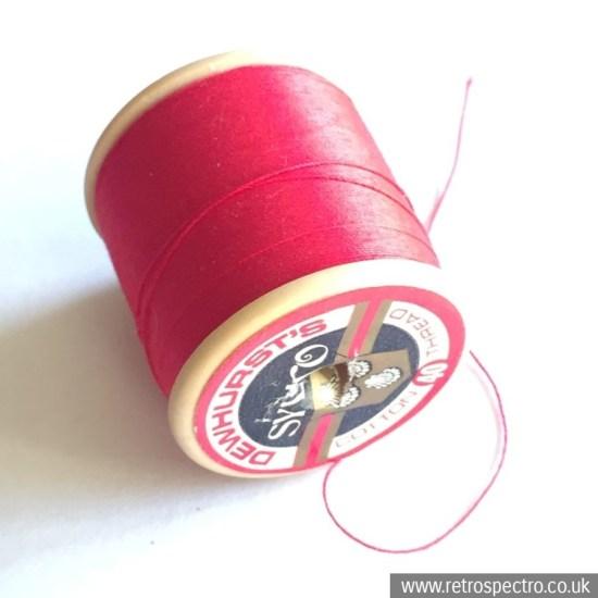 Dewhursts Sylko Cotton Reel Light Scarlet D43