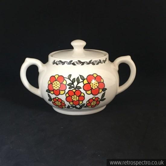 Taunton Vale Flower Pattern lidded pot