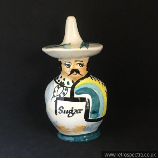 A fab sugar shaker in the classic Mexican figure by Toni Raymond.