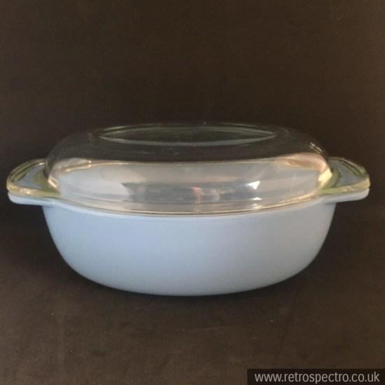 JAJ Pyrex Oval Casserole Dish 50's Colourware