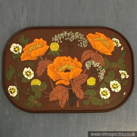 St Michael melamine tray with orange flower